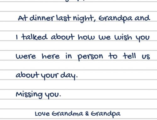 Long Distance Grandparenting: How to make your grandchild feel extra special
